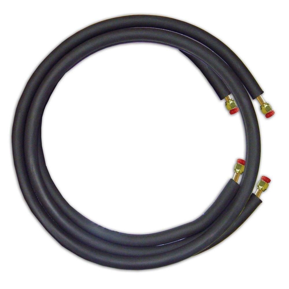 JMF LS1438FF35W - 35' Mini Split Ready Connect Line Set: 1/4'' Liquid Line, 3/8'' Suction Line, 14-4 Connect Wire