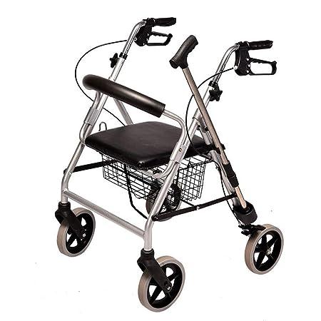 WUHX Carro de Compras Plegable para Ancianos, con muleta ...