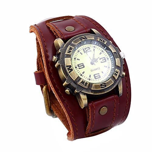Amazon.com: Guoainn - Reloj de pulsera de cuarzo redondo con ...