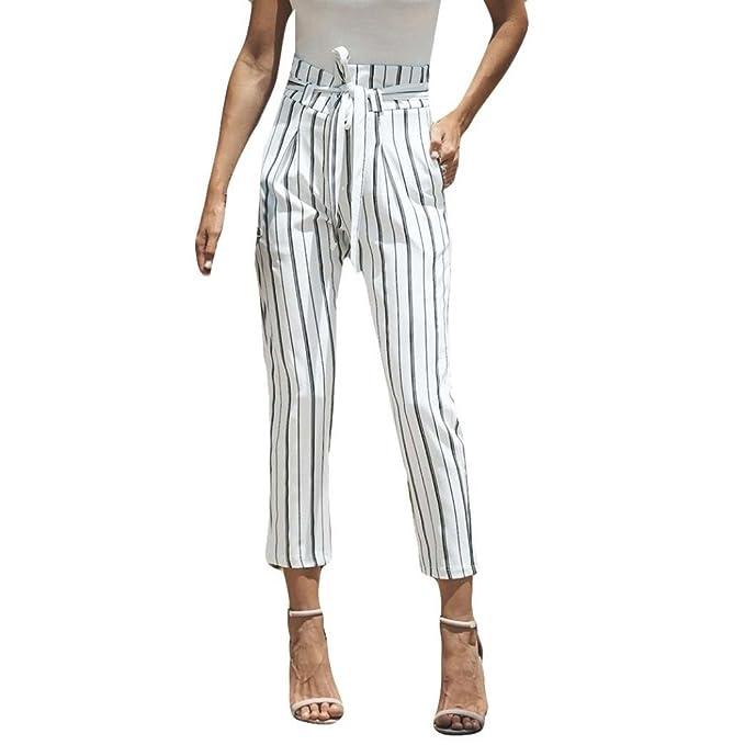 Amazon.com: goodlock moda de mujer pantalones Sexy cintura ...