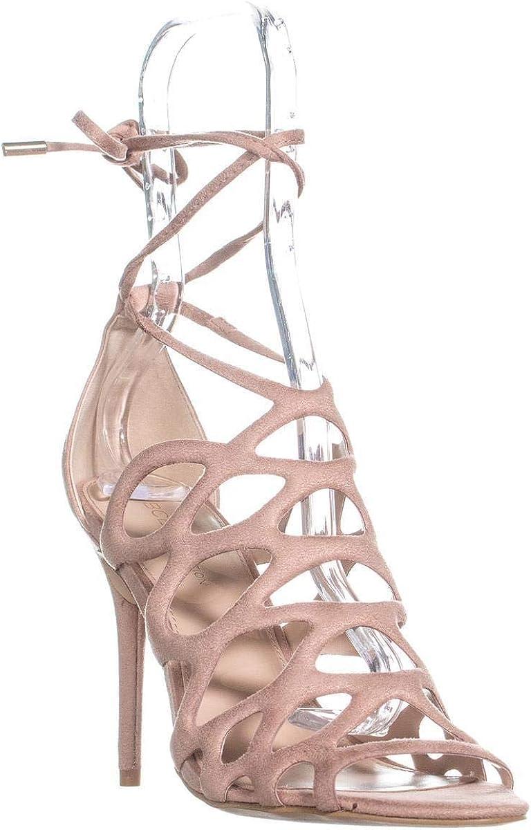 Mocha BCBGeneration Womens Joanna Peep Toe Casual Strappy Sandals Size 9.0