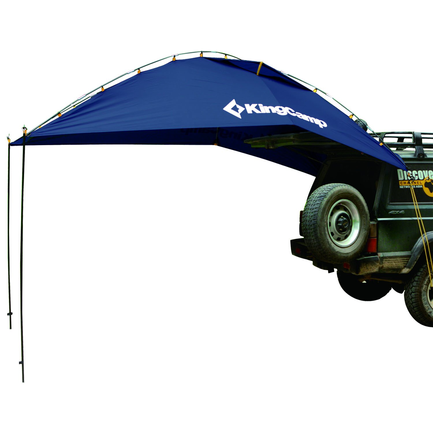 KingCamp Awning Sun Shelter Auto Canopy Camper Trailer Tent Roof Top for Beach, SUV, MPV, Hatchback, Minivan, Sedan, Camping, Outdoor, Anti-uv Tents, Waterproof, Portable (Blue) by KingCamp