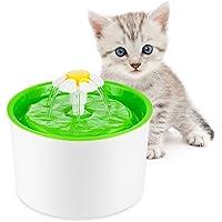 LOBKIN Katzen Trinkbrunnen Katzenbrunnen Haustier Blumentrinkbrunnen Automatisch Leise Wasserbrunnen Wasserspender Aktivkohlefilter für Katzen und Hunde