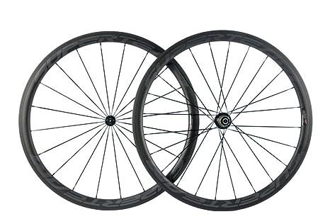Superteam de fibra de carbono carretera bicicleta ruedas 50 mm 700 ...