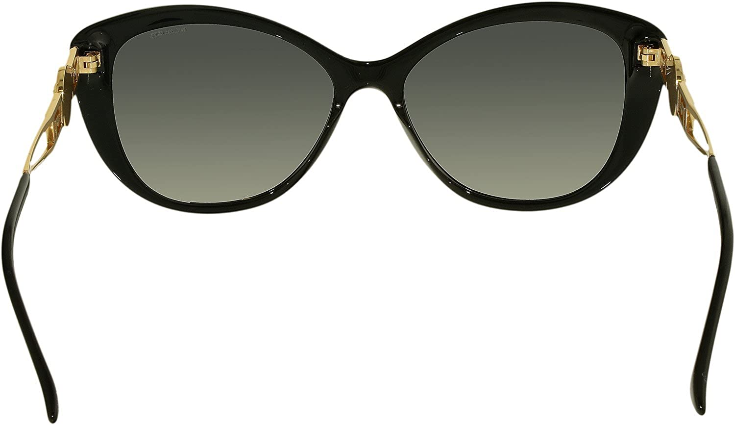 1637190353 Amazon.com  Versace Womens Sunglasses (VE4295 57) Black Grey Acetate -  Polarized - 57mm  Versace  Clothing
