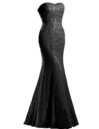 YOUTODRESS Full Lace Prom Dresses Mermaid Long Sweetheart Mother of Bridesmaid Dress