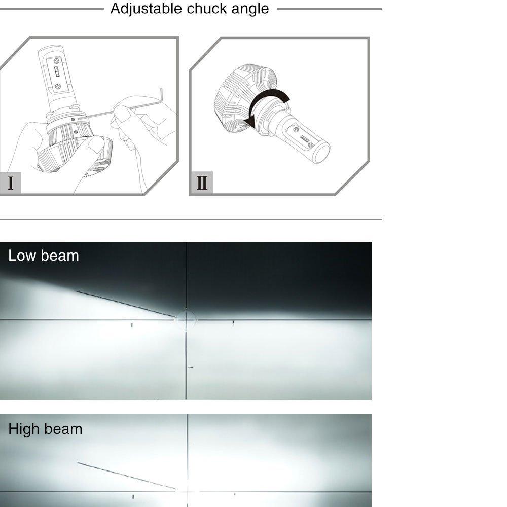 2x 9003 H4 6500k White 16000lm 100w High Power Led Headlight Bulbs Hb2 Bulb F450 Wiring Diagram Low Beam
