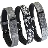 Wristbands Replacement Flex Bands With Clasps for Fitbit FLEX ONLY for Fitbit Band /Fitbit Flex Band /Fitbit Wristband /Fitbit Flex Wristband (3PCS Flowers-09)