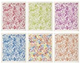 Wet-It Swedish Dishcloth Set of 6 (Paisley in Multi, Red, Purple, Blue, Green, Orange)