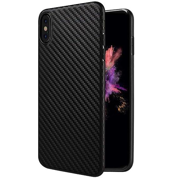 the latest 201f0 a36ab Sakula iPhone X Case Ultra Thin Lightweight Carbon Fiber Pattern Soft TPU  iPhone X Cover Black