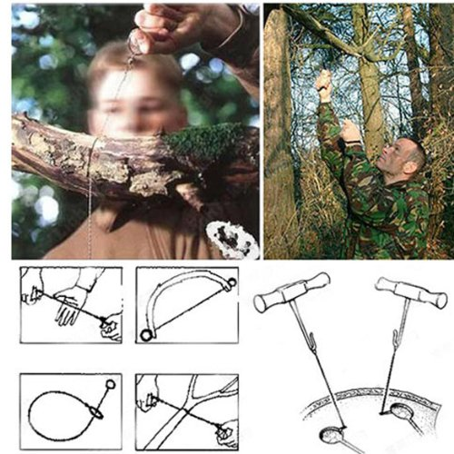 Pack of 2 Outdoor Camping Hunting Survival Wire Saw Cutter Emergency Tool