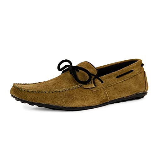 790d773cd78 Bacca Bucci Men Olive Genuine Leather Loafers  Buy Online at Low Prices in  India - Amazon.in