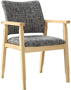 QQXX Dining Chairs Chairs Furniture Beech Finish Linen Upholstered Seat Kitchen (Color : T5)