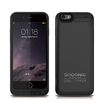 check out b984d 1c7ff [With A Screen Protector] iPhone 6s Battery Case Soconic 5800 mAh  Rechargeable Extended Battery Case for iPhone 6 / iPhone 6s (4.7 inch)  Portable ...