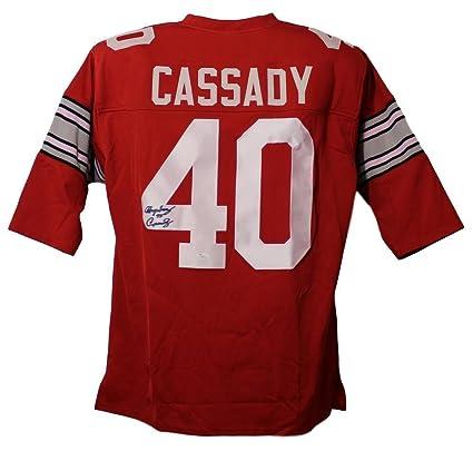 Hopalong Cassady Autographed Ohio State Buckeyes XL Red Jersey JSA ... a1fed2996