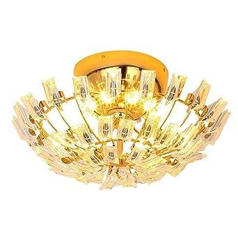 hohe deckenbeleuchtung lampe oofay light led 24w modern luxury design deckenleuchte rund deckenbeleuchtung höhe transparent glas kristall metall deckenlampe