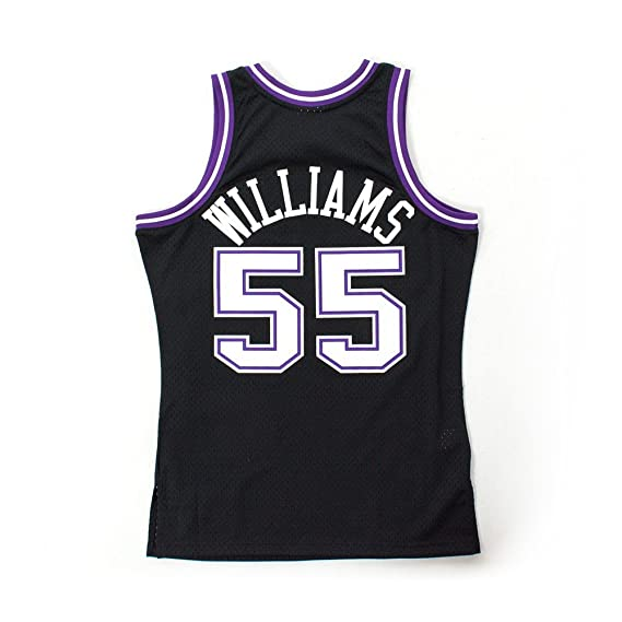 Mitchell & Ness Jason Williams # 55 Sacramento Kings 2000 - 01 Swingman NBA Camiseta Negro, Small: Amazon.es: Deportes y aire libre