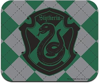 Harry Potter Slytherin Plaid Sigil Low Profile Thin Mouse Pad Mousepad