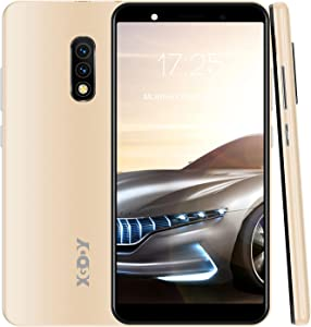 Xgody Mate10+ Smartphone Unlocked, Android 8.1 Cell Phones Cheap, Dual Sim-Free Mobile Phones with 5.5 inch HD Display, Dual 5MP Beauty Cameras + 8GB ROM (Gold)