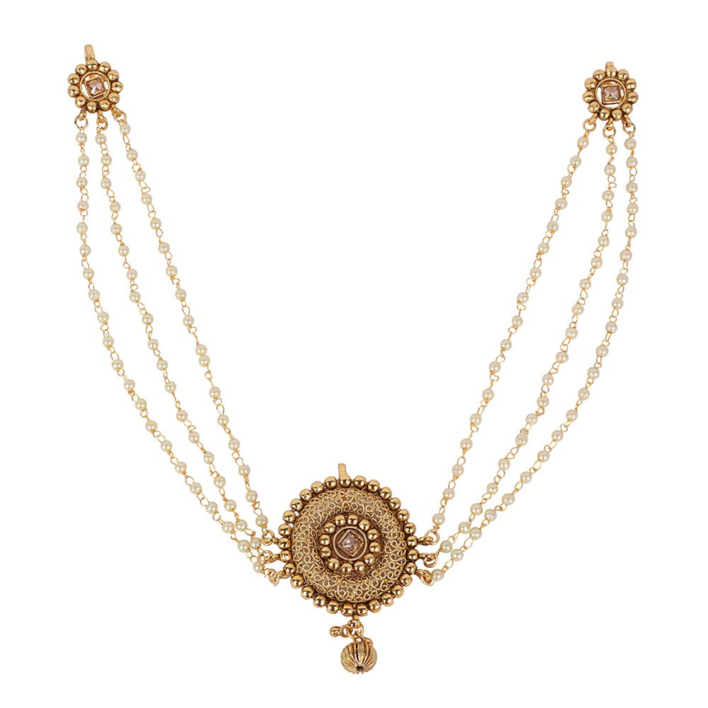 MUCHMORE Glamorous Gold vergoldet indischen Haar Pin Haar Clip Haar Schmuck fü r Damen HP-62