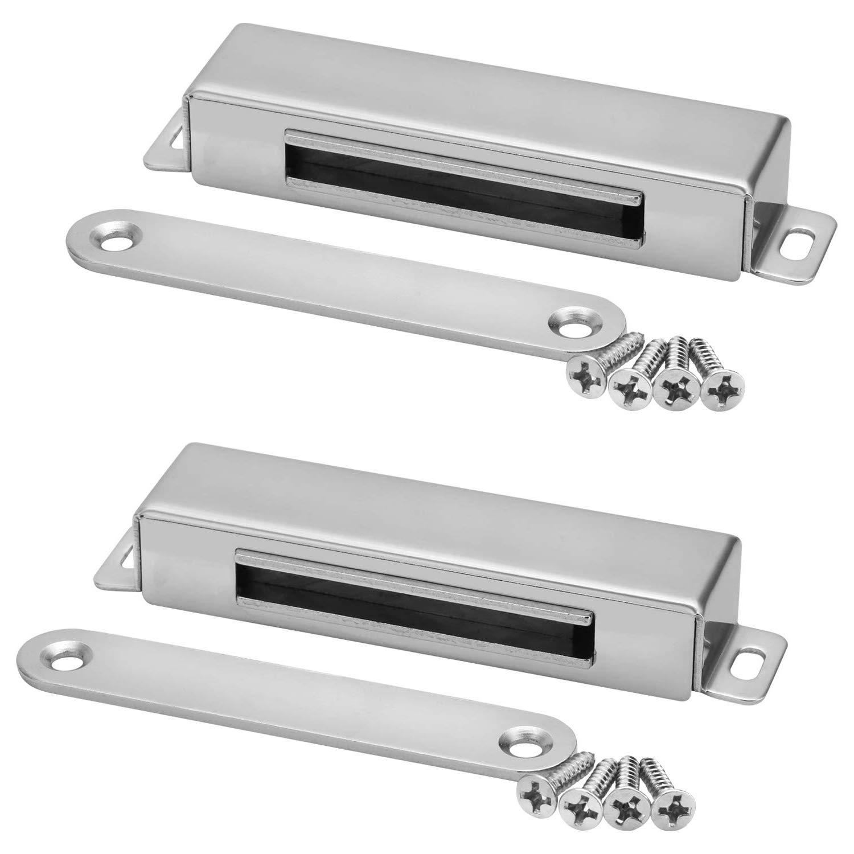 magn/ético Catch,2Pcs BESTZY soporte de tope para puerta de armario Lock marr/ón para armario armario