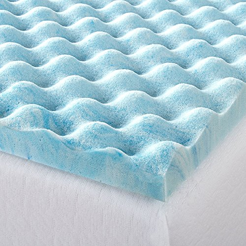 Zinus 1.5 Inch Swirl Gel Memory Foam Air Flow Topper, King