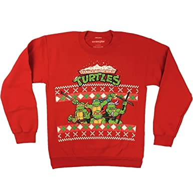 teenage mutant ninja turtles ugly christmas sweater small
