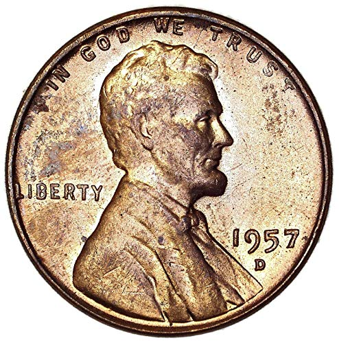 1957 D Lincoln Wheat Cent About Uncirculated