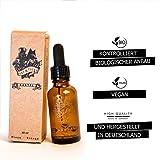 Rabe & Fuchs – Bartöl Minz-Orange Duft - 30ml - Mit Mandel- und Jojobaöl. Natürliche premium Bartpflege aus kontrolliert biologischer Anbau. Vegan - Kein Palmöl - keine Chemie