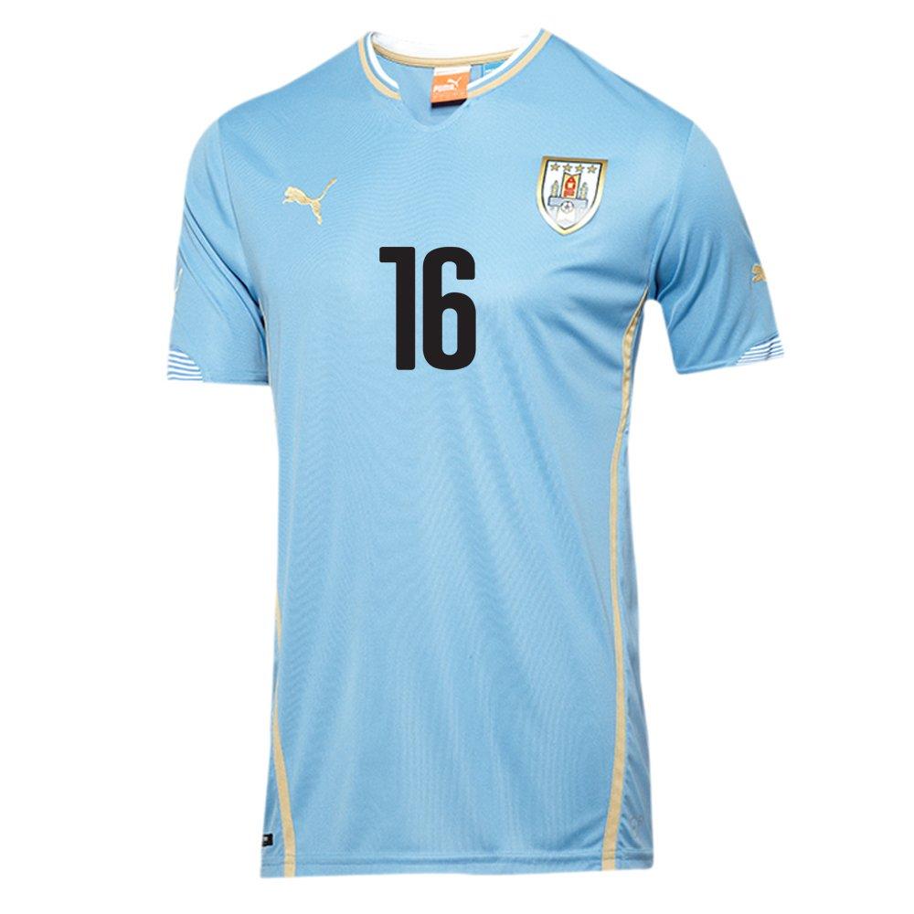 Puma Uruguay FIFA WC World Cup 2018 LU Soccer Jacket Brand New Black Blue