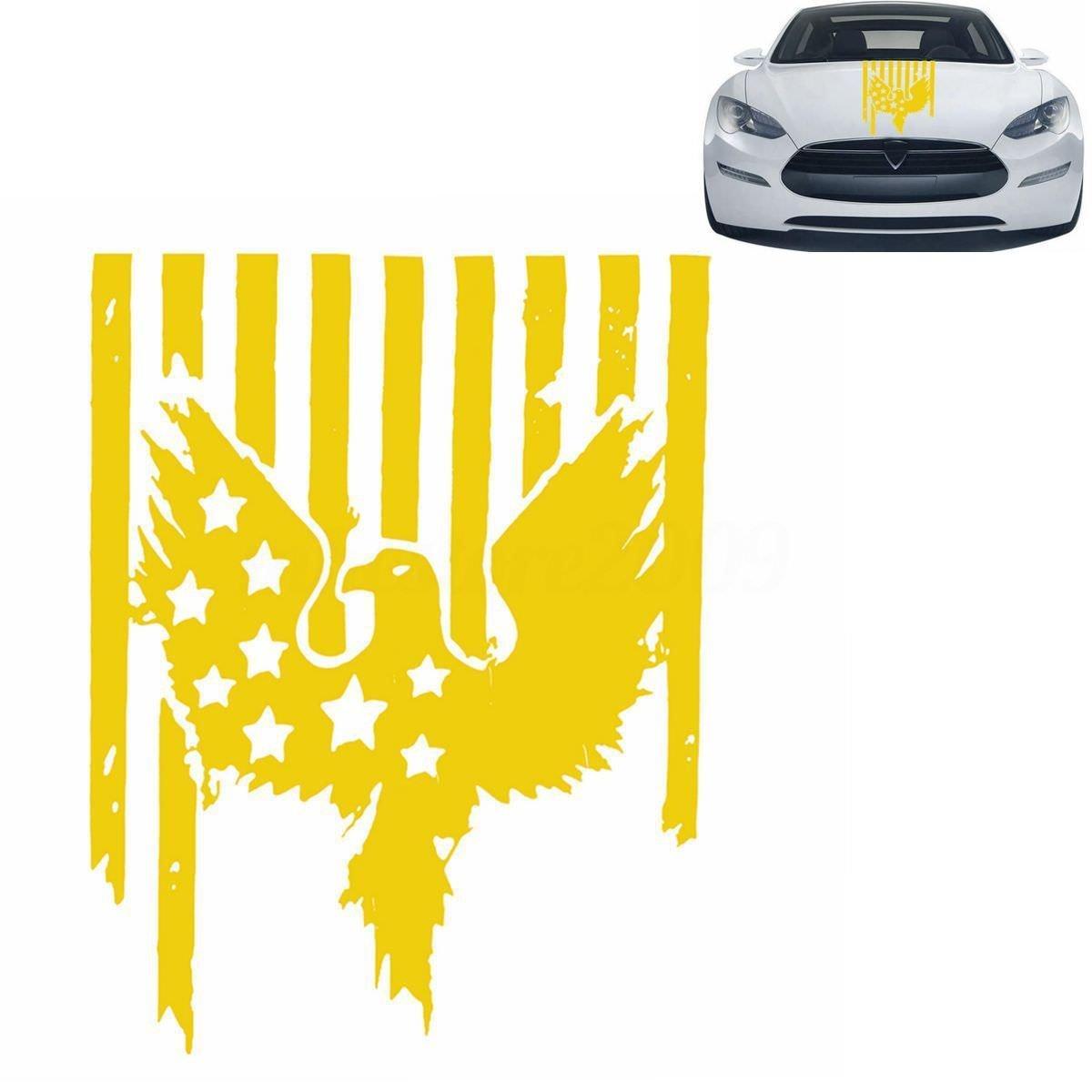 Cvanu car eagle racing hood side stripe vinyl decals stickers yellow 58 5 cmx76cm for maruti suzuki wagon r stingray amazon in car motorbike