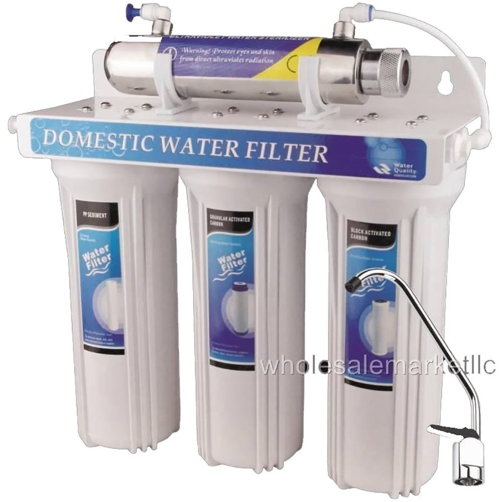 4 - Stage Drinking Water Filter UV Ultraviolet Light Purifier for Bacteria by RO