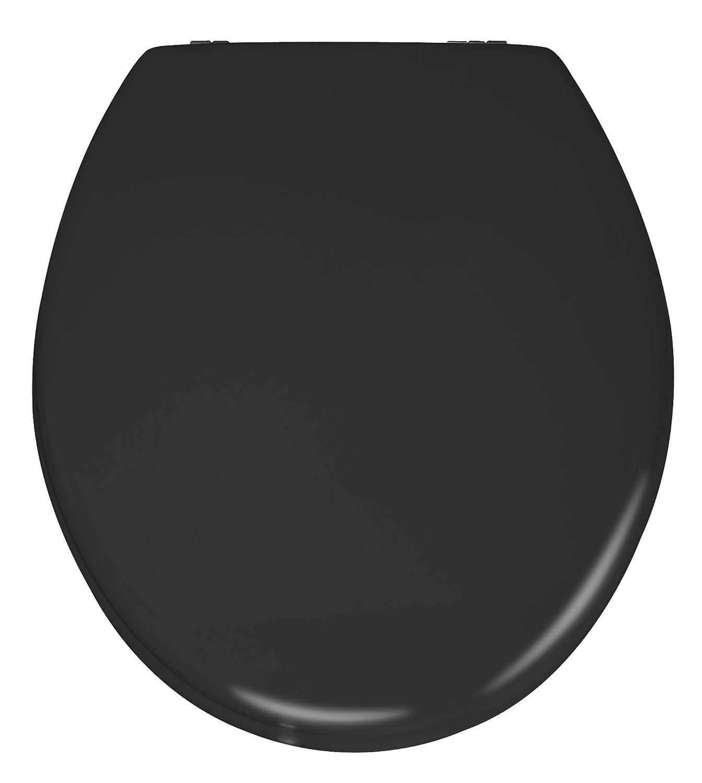 Wenko ASSE Prima Fiacco per WC con Cassetta a Zaino, Pannello Fibra di Legno Pressato, 41,5 x 38 cm, Nero, (Schwarz) 20077100