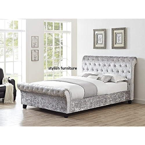 King Size Crushed Velvet Bed: Amazon.co.uk