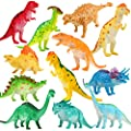 Dinosaur Figure, 8 Inch Jumbo Dinosaur Toy Playset(12 pack), Safe Material Assorted Realistic Dinosaur,Yeonhatoys Vinyl Plastic Dino Dinosaur Set Party Favors Toys For Kids Boys Toddler Educational