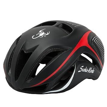 Qarape Profesión Casco de bicicleta Casco de ciclismo de tamaño ajustable Aerodinámica Cascos de bicicleta Casco