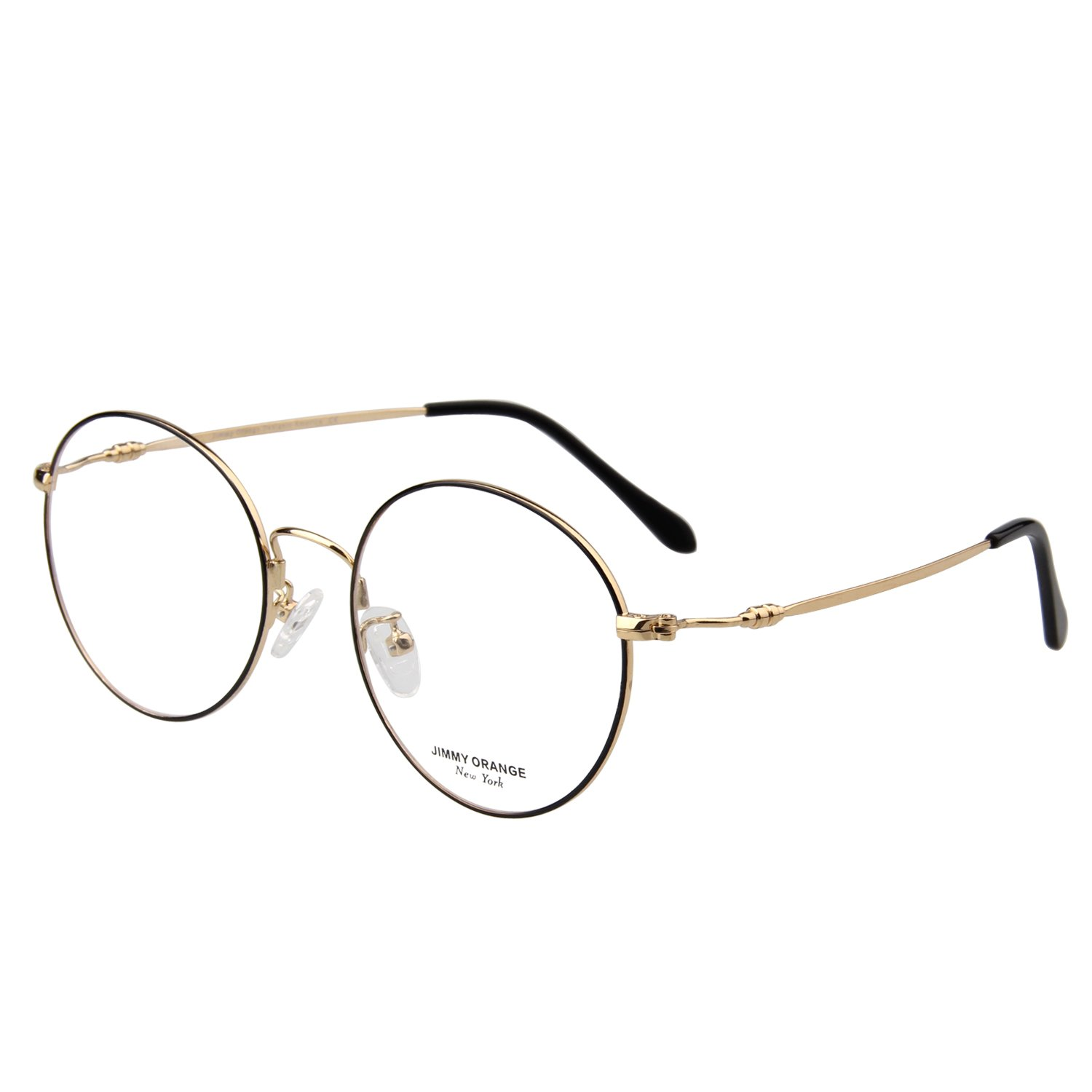 518c350c50d5 Amazon.com  JO Designer Oversized Women s Round Glasses Mens Metal Optical  Frame JO5214 Black  Health   Personal Care
