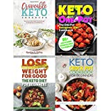 Craveable keto, one pot ketogenic diet cookbook, keto diet for beginners and keto crock pot cookbook 4 books collection set