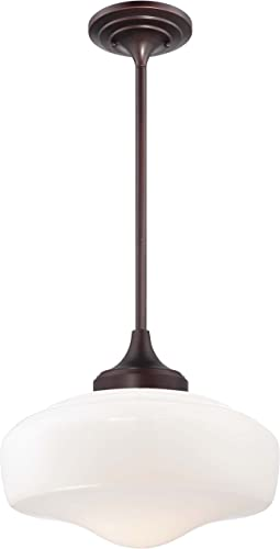 Minka Lavery 2258-576 Round Schoolhouse Pendant Ceiling Lighting