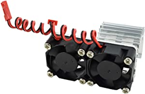 Apex RC Products 540/550 Aluminum Heat Sink W/Two 30mm Fans - 3 Colors to Choose from (Silver)