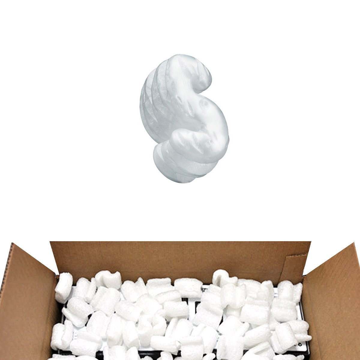 White 3.5 Cubic Feet Packing Peanuts