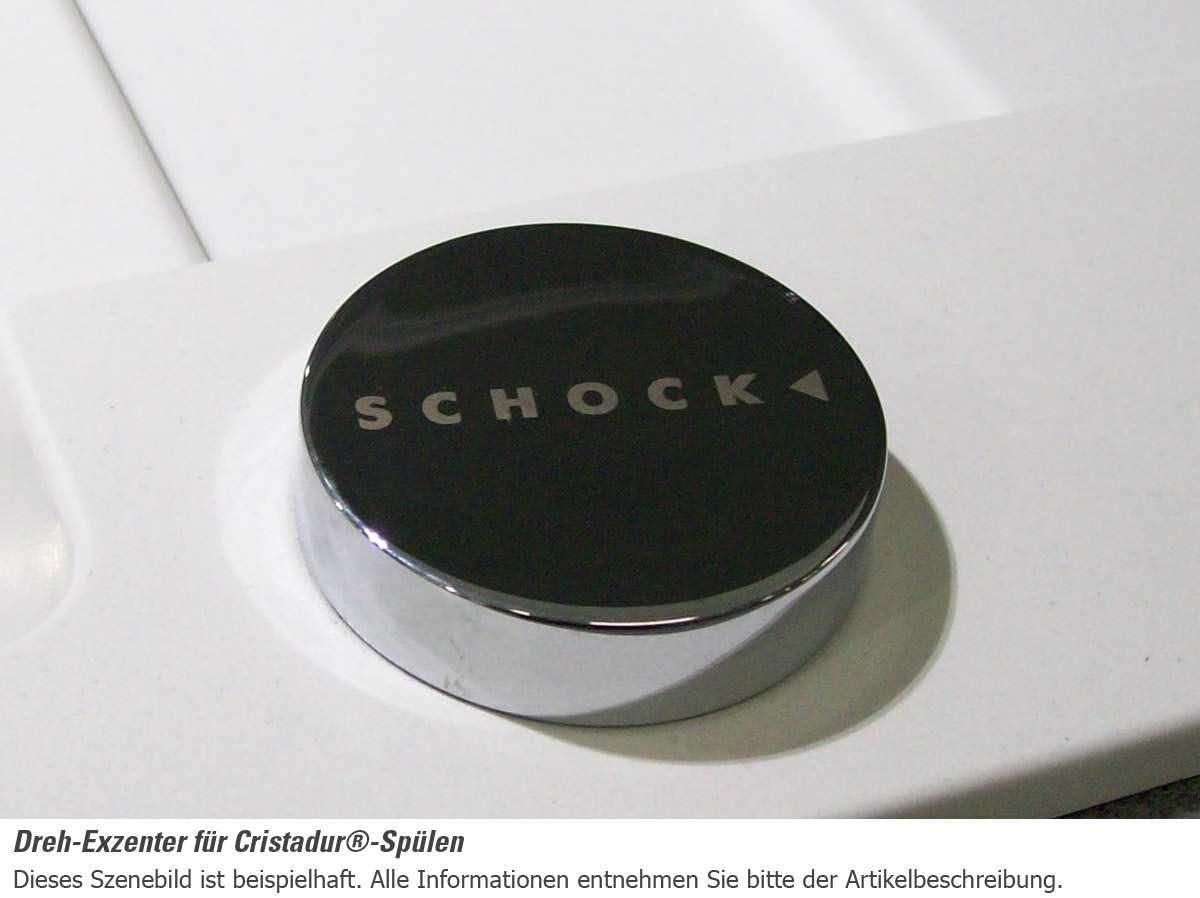 Schock Greenwich N-100 A Puro GREN100APUR Granit-Sp/üle Schwarz Einbaubecken K/üchensp/üle Auflage