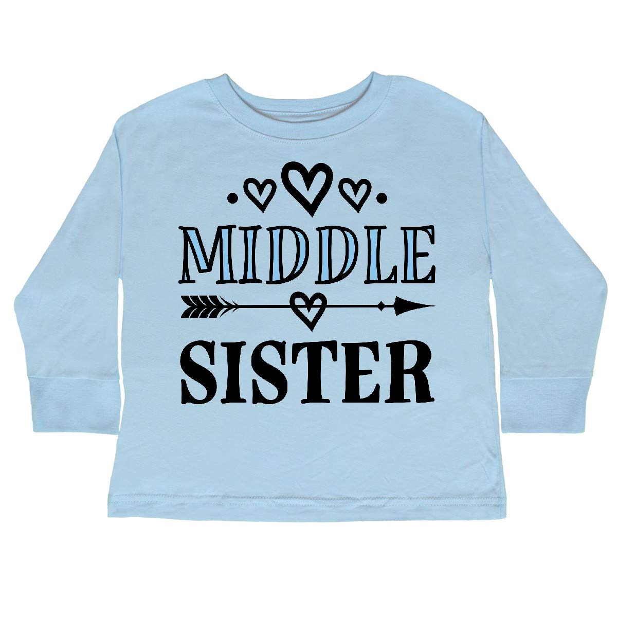 inktastic Middle Sister Announcement Toddler Long Sleeve T-Shirt