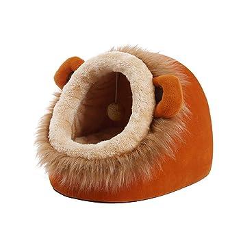 KYCD Cálida Cama de Nido para Mascotas, Cama Interior para Gatos Casa Saco de Dormir