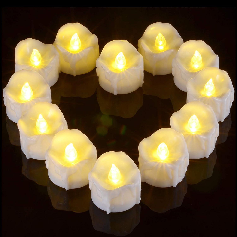 12pcs Flameless LED Candle Flickering Tea Light Battery Birthday Wedding Candles