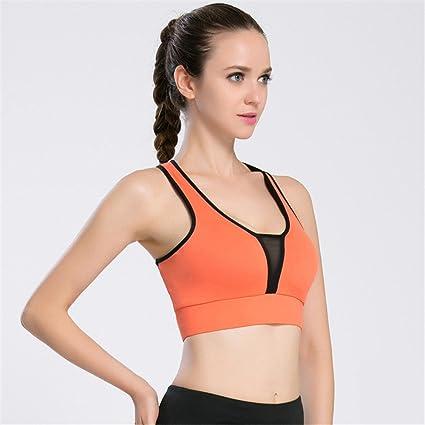 Wenzhihua Sujetador Confort Yoga Bra Mesh Deep V Sports ...
