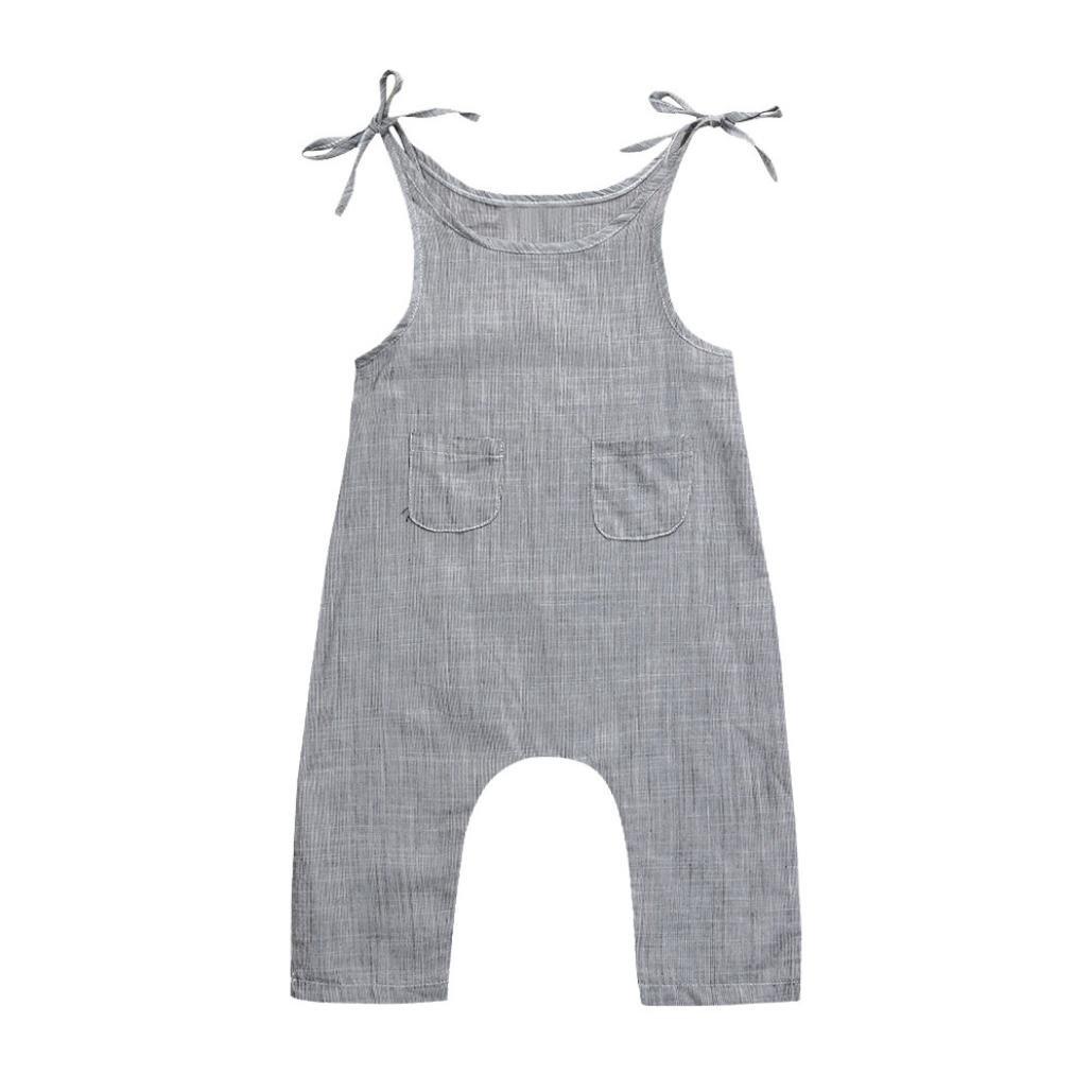 ae59b24e3b80 Amazon.com  Winsummer Toddler Infant Boys Girls Linen Sleeveless ...