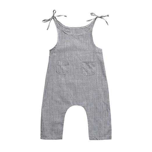 776c77b89c7 Winsummer Toddler Infant Boys Girls Linen Sleeveless Braces Strap Romper  Jumpsuit Pant Coveralls Summer Clothes (
