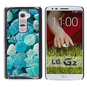 Planetar® ( Crystal Meth Rocks Candy Blue Beach ) LG G2 / D800 D801 D802 D803 VS980 LS980 Fundas Cover Cubre Hard Case Cover