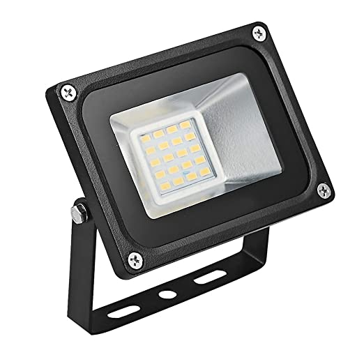 CSHITO Foco LED 20W,1400 lm, Impermeable IP65,Foco proyector LED exterior,Blanco cálido